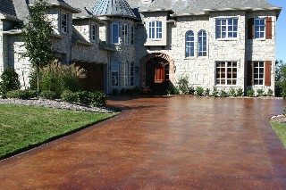 Saddle Concrete stain