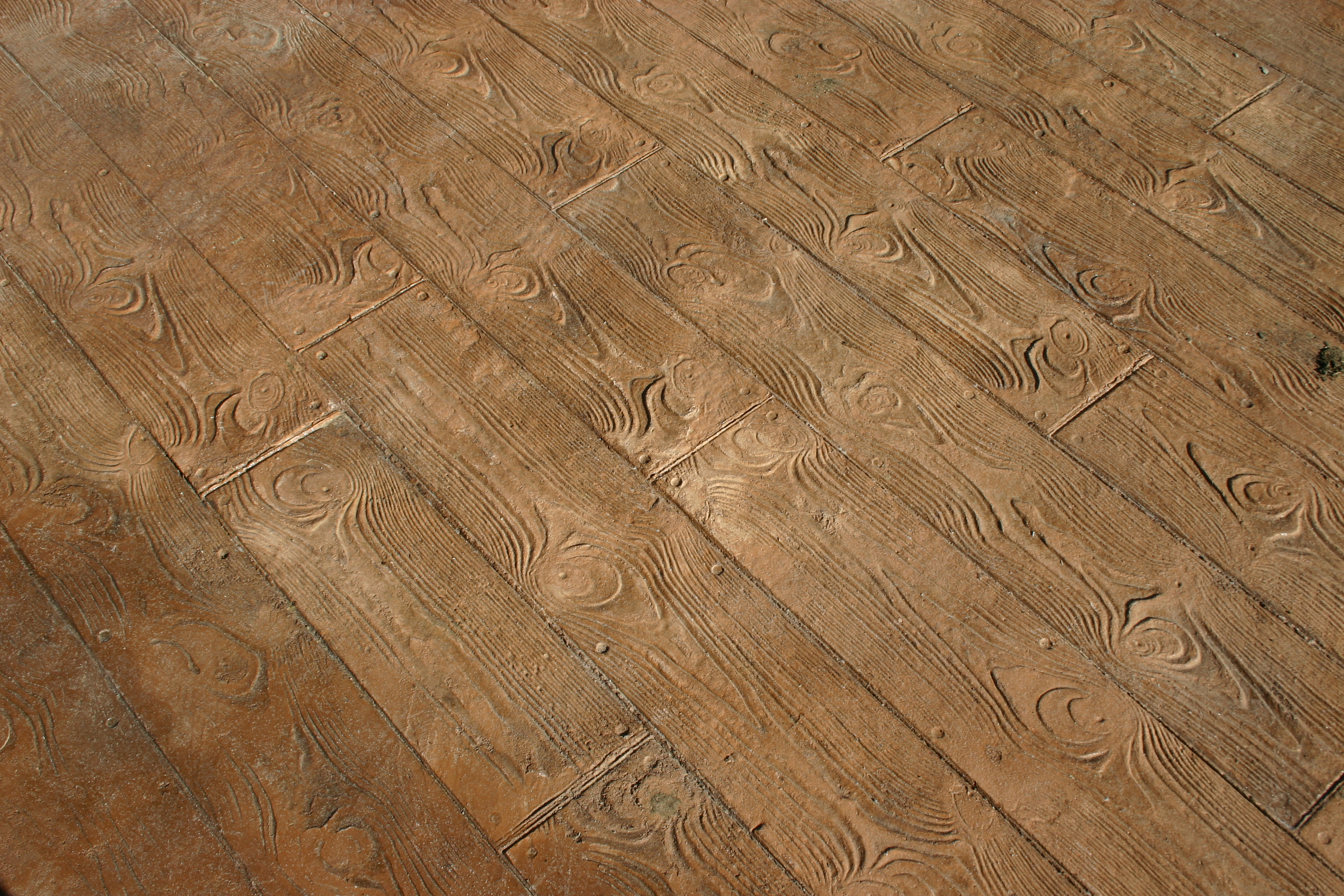 Stained Stamped Concrete Wood Earance