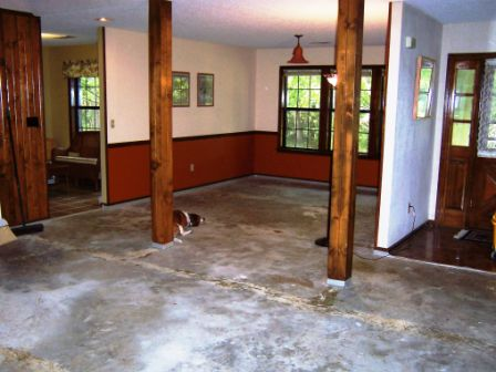 How To Stain Concrete Bat Floor