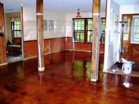 How to stain interior concrete