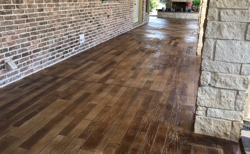 wood concrete stain