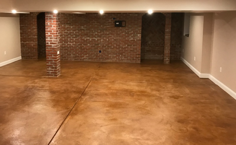 Stained Concrete Bat Floor