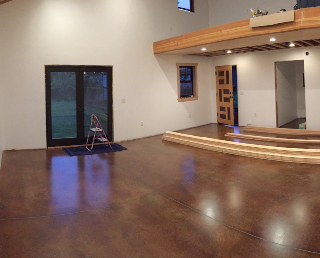 Loft with stained concrete