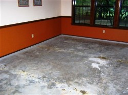 concrete floor before