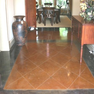 Scored Concrete Floor