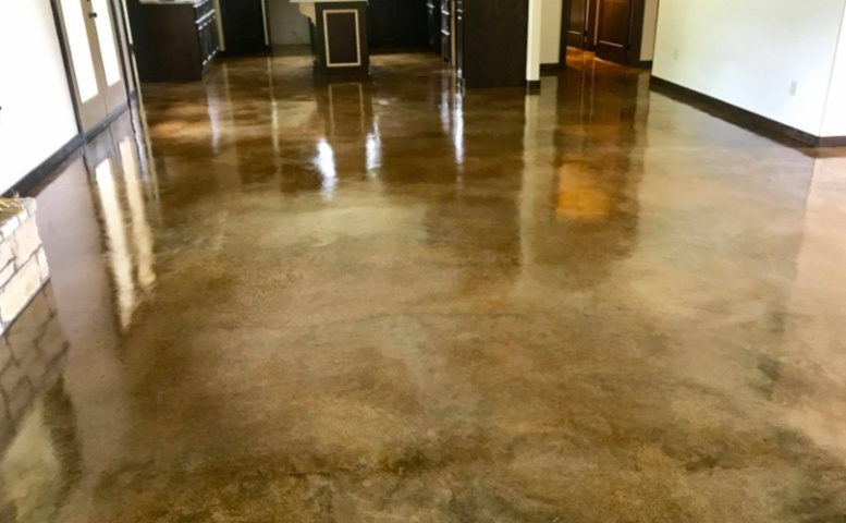 How Much Does Cost Stain Concrete Floors Yourself