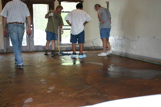 Artist Grade Concrete Stain Sealer Floor Wax And Supplies